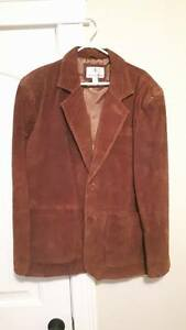 Brown Suede/Leather Blazer Jacket (Mens)