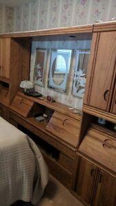 Bedroom headboard / cabinet / dresser set