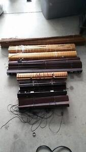 Collection of bamboo & wooden cherry red blinds for sale