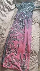 cross back dress/prom dress in excellent condition