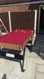 Fold-up pool table