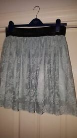Atmosphere ladies duck egg blue lace skirt. Size 14. Great condition.
