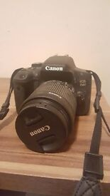 Canon 750d, with lens barely used mint condition no charger or box