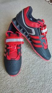 Red ADIDAS ADIPOWER weight lifting/power lifting shoes NEW
