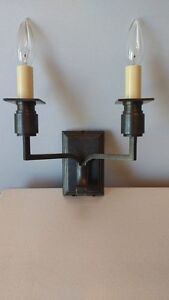 Pair of Oil Rubbed 2 light sconce set