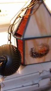 Vintage Stained Glass Ceiling Light Fixture Kitchener / Waterloo Kitchener Area image 2