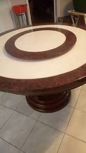 Marble table and 4 chairs