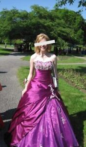 Prom gown with Crinoline -  Size xs