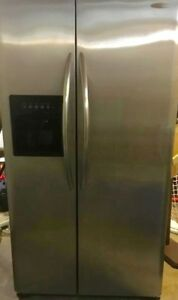 "Frigidaire 36"" Stainless Steel Fridge With Ice & Water Dispenser"