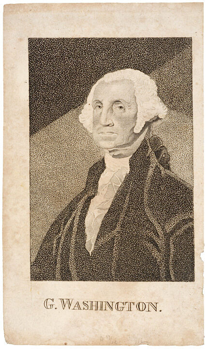 C. 1830 Uncolored Print Engraving G. Washington