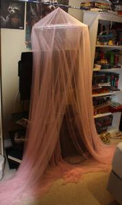 Girls Pink Bed or bedroom shroud