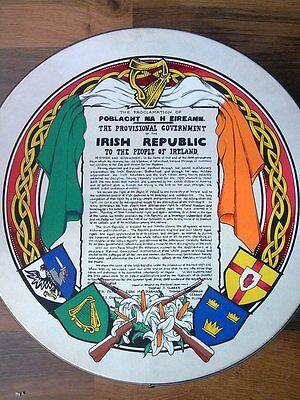 Personalised Irish Bodhran - Portrait Crest Republican - Birthday Wedding Gift