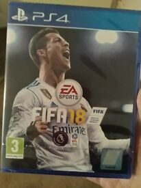 Brand new sealed FIFA 18 for PS4