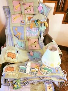 Crib Bedding Set and Asscessories Malawi Theme