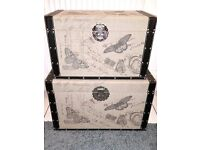 New 2 Cheungs Home Decorative Storage Chest Box - Trunks With Butterflies