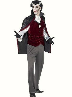 Smiffys Mens Count Dracula Vampire Fancy Dress Costume Adults Halloween Outfit