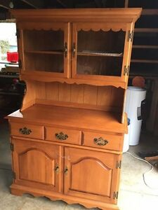 Oak Wooden China Hutch