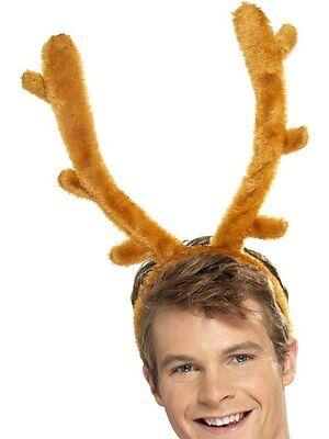 DEER MOOSE ELK RUDOLPH REINDEER COSTUME ANTLERS HORNS BUCK STAG NIGHT BROWN - Costume Antlers