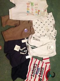 BRAND NEW! 0-3 baby boys clothes.