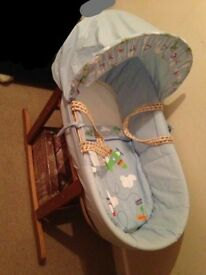 BRAND NEW Baby boy Moses basket NEED GONE ASAP