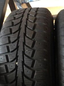 205/70R15 Michelin Winter Tires on Rims