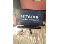 Hitachi 50 inch HD LED smart TV with Bush soundbar with Bluetooth