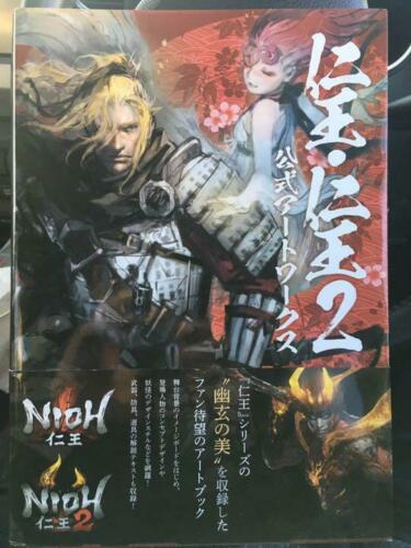 Nioh & Nioh 2 Oficial Artworks Art book Illustrations Works Collection Japanese