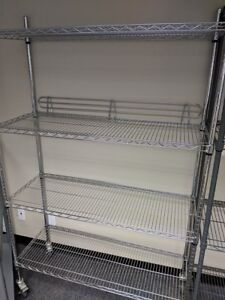 Chrome Wire Shelves, Metro style racks!