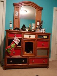Bedroom Dresser set, SOLID WOOD