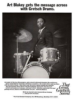 Art Blakey POSTER Gretsch Drums JAZZ DRUM MASTER