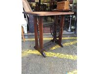 Stunning Handmade Antique Singer Treadle Desk/ Hall Table