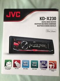 JVC car radio for sale- includes radio, USB and aux.