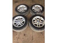 Genuine BMW e46 set of alloy wheels