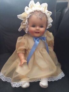 """Vintage 25"""" Blinking Chubby Baby Doll"""