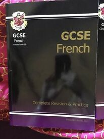 GCSE physics, Chemistry, science and French books (including French audio cd)
