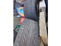 2 tyres 205 x 45 x 16 zr £15 each or £25 for pair 6mm tread