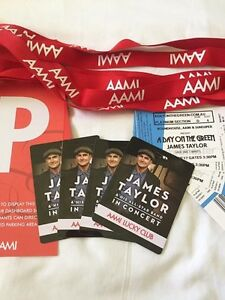 4x James Taylor Platinum Tickets ($175) each Burleigh Waters Gold Coast South Preview