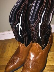 Cowgirl Boots for Sale. Real leather Worn once 85$ OBO St. John's Newfoundland image 1