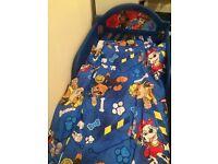 Paw patrol toddler bed bundle