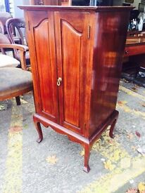 Stunning Antique Mahogany Music Cabinet