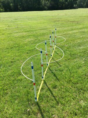 Dog Agility Equipment Weave Poles with Guide Wires ⭐⭐⭐⭐⭐ (Agility Equipment Weave Poles)
