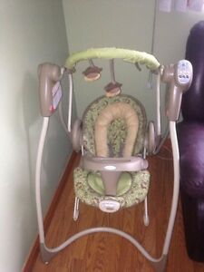 Infant swing and bouncer used for 1 month