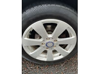 "Set of 4 Genuine Mercedes w204 Original 7 spoke 16"" alloys Set of 4 with tyres (2 Brand new)"