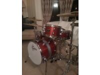 Gretsch Catalina Club Street shell kit for sale - includes toms arm, floor tom legs & cymbal mount