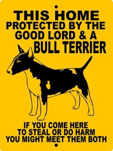 "0340 Bull Terrier 9""x12"" Aluminum Sign"