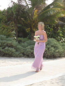 ELEGANT SOFT MAUVE DRESS IDEAL FOR CRUISE/ CARIBBEAN WEDDING/