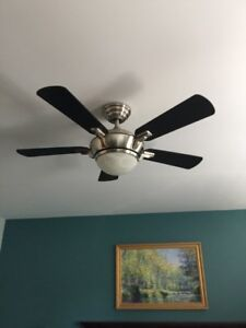 Brushed Nickle Hampton Bay Ceiling Fan with Remote