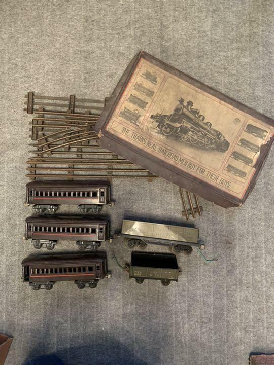 Tin train, early Showa period, must-see for collectors C5185. Immovable goods