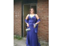 Purple Slim Fit Prom Dress
