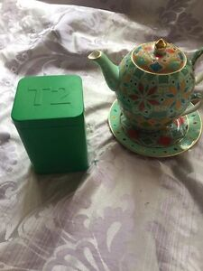T2 Teapot, cup, plate and loose leaf tea Macquarie Park Ryde Area Preview